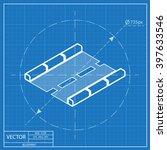 road isometric 3d blueprint... | Shutterstock .eps vector #397633546
