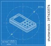 cell phone 3d isometric... | Shutterstock .eps vector #397633576