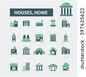 houses  home icons  | Shutterstock .eps vector #397635622