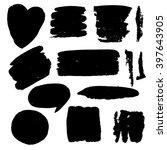 the stain brushes for design.... | Shutterstock .eps vector #397643905