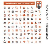 information technology icons  | Shutterstock .eps vector #397645648