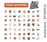 food shopping icons  | Shutterstock .eps vector #397645912