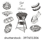 vector hand drawn barbecue... | Shutterstock .eps vector #397651306