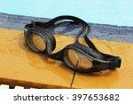 swimming glasses in swimming... | Shutterstock . vector #397653682