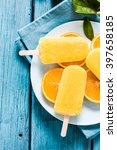 healthy snack  orange natural... | Shutterstock . vector #397658185
