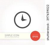 flat clock icon. universal...
