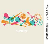 color sport equipment icon.... | Shutterstock . vector #397665712