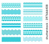collection of marine waves. sea ...   Shutterstock .eps vector #397666408