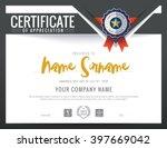 modern certificate triangle... | Shutterstock .eps vector #397669042