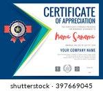 modern certificate blue...   Shutterstock .eps vector #397669045
