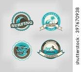 set of malibu california beach... | Shutterstock .eps vector #397670938