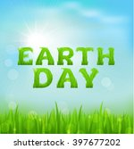 happy earth day greeting card.... | Shutterstock .eps vector #397677202