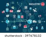 industry 4.0  industrial...   Shutterstock .eps vector #397678132