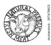 vector logotype of butch shop... | Shutterstock .eps vector #397678825