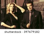 young fashion business couple... | Shutterstock . vector #397679182