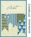 abstract textured fabric card...   Shutterstock .eps vector #397680412