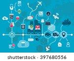 autonomous driving and... | Shutterstock .eps vector #397680556