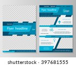 vector flyer template design.... | Shutterstock .eps vector #397681555