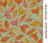 autumn seamless pattern | Shutterstock .eps vector #397687156
