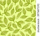 green leaves seamless pattern | Shutterstock .eps vector #397687192