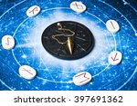 esoteric table with astrology... | Shutterstock . vector #397691362