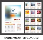 design of wall monthly calendar ... | Shutterstock .eps vector #397693012