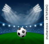 football sport poster with... | Shutterstock .eps vector #397693042