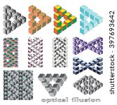 optical illusion  abstract... | Shutterstock .eps vector #397693642