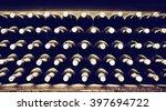 stacked up wine bottles | Shutterstock . vector #397694722