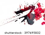 conceptual image with blood on...   Shutterstock . vector #397695832