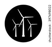 wind turbine circle icon. black ...   Shutterstock .eps vector #397698022