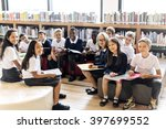 classmate educate friend... | Shutterstock . vector #397699552
