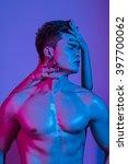 beautiful athletic bodybuilder... | Shutterstock . vector #397700062