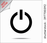 power on off button sign icon ... | Shutterstock .eps vector #397700392