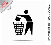 recycling sign icon  vector... | Shutterstock .eps vector #397700422
