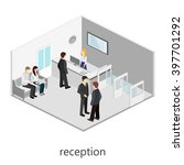 isometric interior of waiting... | Shutterstock . vector #397701292