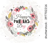lovely hand drawn card with... | Shutterstock .eps vector #397702216
