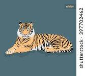 Vector Tiger Sitting
