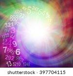 spiraling numbers energy  ... | Shutterstock . vector #397704115