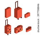 travel suitcase | Shutterstock . vector #397708846