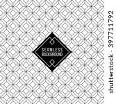 seamless monochrome fashion... | Shutterstock .eps vector #397711792