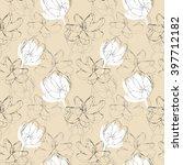 tulips seamless pattern   Shutterstock .eps vector #397712182