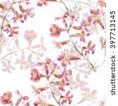 seamless watercolor pattern... | Shutterstock . vector #397713145