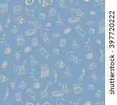 raster illustration.seamless... | Shutterstock . vector #397720222