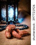 ramadan lantern  dates and... | Shutterstock . vector #397721926