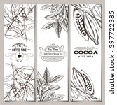 coffee  tea  cocoa banner... | Shutterstock .eps vector #397722385