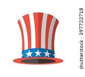 Uncle Sam Hat On White...