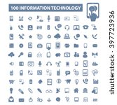 information technology icons  | Shutterstock .eps vector #397723936