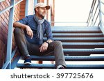 portrait of a trendy young man... | Shutterstock . vector #397725676