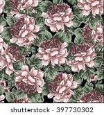 vintage peony flowers pattern... | Shutterstock .eps vector #397730302